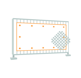 Construction fence banner (Mesh 280 g/m²)