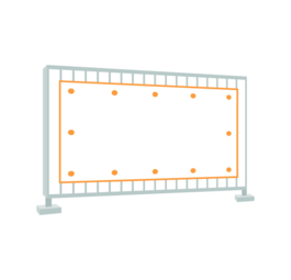 Construction fence banner (Frontlit 510 g/m²)