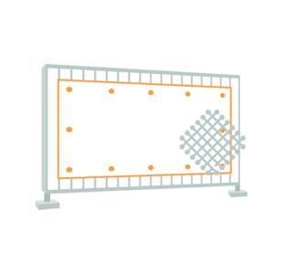 Construction fence banner (Mesh 280 g/m²)
